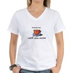 Fueled by Cafe con Leche Women's V-Neck T-Shirt