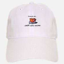 Fueled by Cafe con Leche Baseball Baseball Cap
