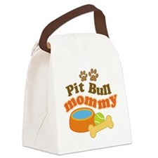 Pit Bull Mom Canvas Lunch Bag