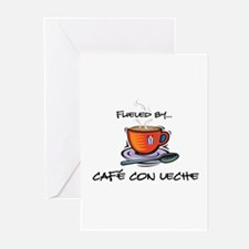 Fueled by Cafe con Leche Greeting Cards (Package o