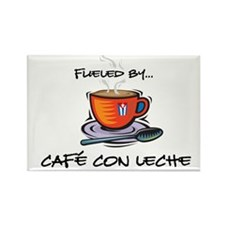 Fueled by Cafe con Leche Rectangle Magnet