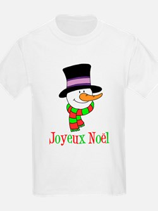 Joyeux Noel Snowman Kids T-Shirt