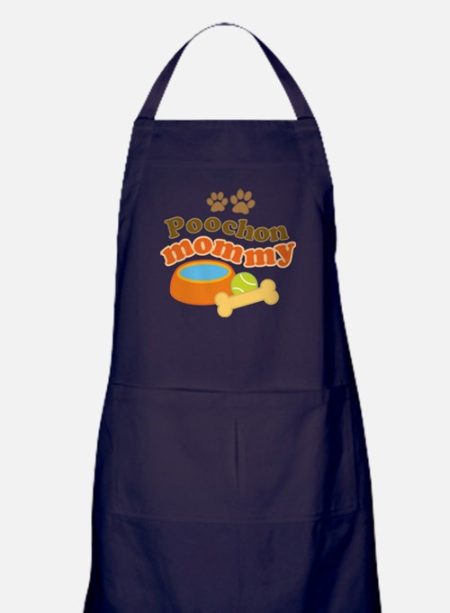 Poochon Mom Apron (dark)