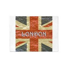 London Vintage British Flag 5'x7'Area Rug