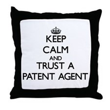 Keep Calm and Trust a Patent Agent Throw Pillow