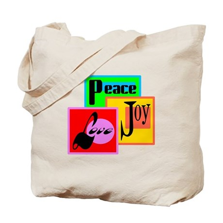 Peace Joy Love/ Tote Bag