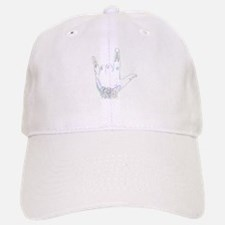 horns up 3 Baseball Baseball Cap