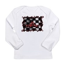 Red Racer framed with Checkered Flag Long Sleeve T