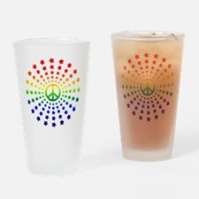Peace Burst Drinking Glass