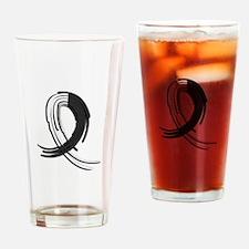 Carcinoid Cancer Graffiti Ribbon Drinking Glass