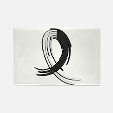 Carcinoid Cancer Graffiti Ribbon Rectangle Magnet