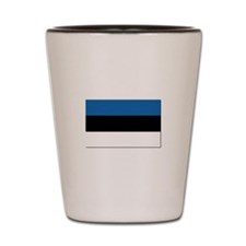 Flag of Estonia - NO Text Shot Glass
