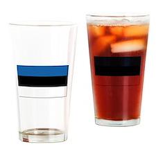 Flag of Estonia - NO Text Drinking Glass