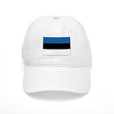 Flag of Estonia - NO Text Baseball Baseball Cap