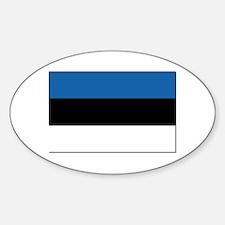 Flag of Estonia - NO Text Sticker (Oval)