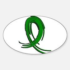 Neurofibromatosis Graffiti Ribbon 2 Sticker (Oval)