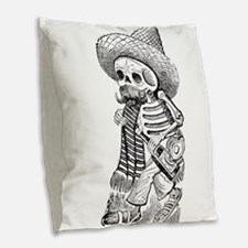 posadaguy.jpg Burlap Throw Pillow