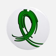 Spinal Cord Injury Graffiti Ribbo Ornament (Round)