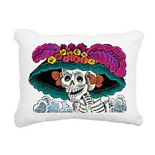 La Catrina Rectangular Canvas Pillow
