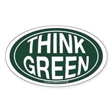 Think Green Oval Decal