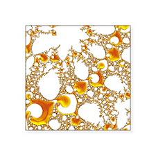 special fractal 04 orange SF Sticker