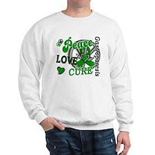 Gastroparesis Peace Love Cure 2 Sweatshirt