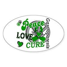 Gastroparesis Peace Love Cure 2 Decal