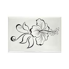 Hibiscus Art Rectangle Magnet