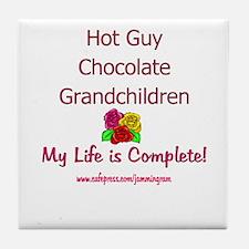 Grandma's Life (p) Tile Coaster
