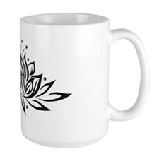 Black & White Lotus Design Mug