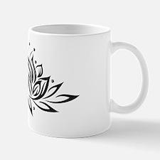 Black & White Lotus Design Mug