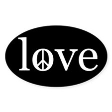 peace love Oval Decal