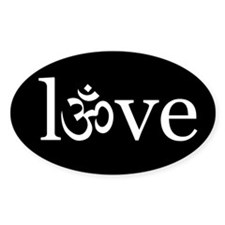 om love Oval Decal