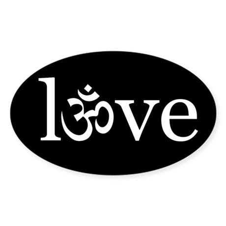 om love Oval Sticker