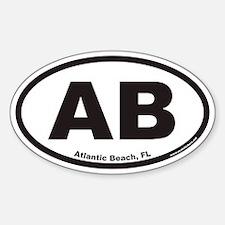 Atlantic Beach Florida AB Euro Oval Decal