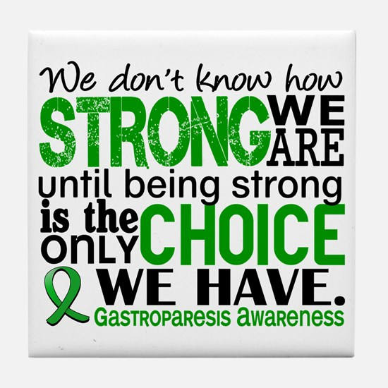 Gastroparesis How Strong We Are Tile Coaster
