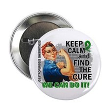 "Gastroparesis Rosie Keep Calm 2.25"" Button"