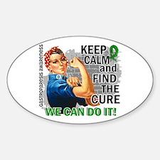Gastroparesis Rosie Keep Calm Sticker (Oval)