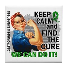 Gastroparesis Rosie Keep Calm Tile Coaster