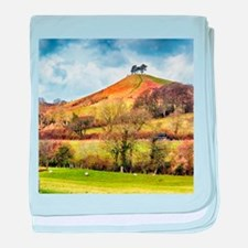 Colmers Hill Landscape baby blanket