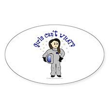 Light Astronaut Oval Decal