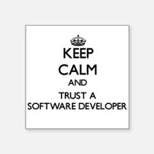 Keep Calm and Trust a Software Developer Sticker