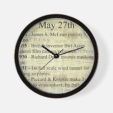 May 27th Wall Clock