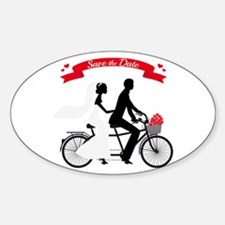 Save the date, wedding invitation tandem bicycle S