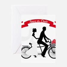 Save the date, wedding invitation tandem bicycle G