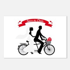 Save the date, wedding invitation tandem bicycle P