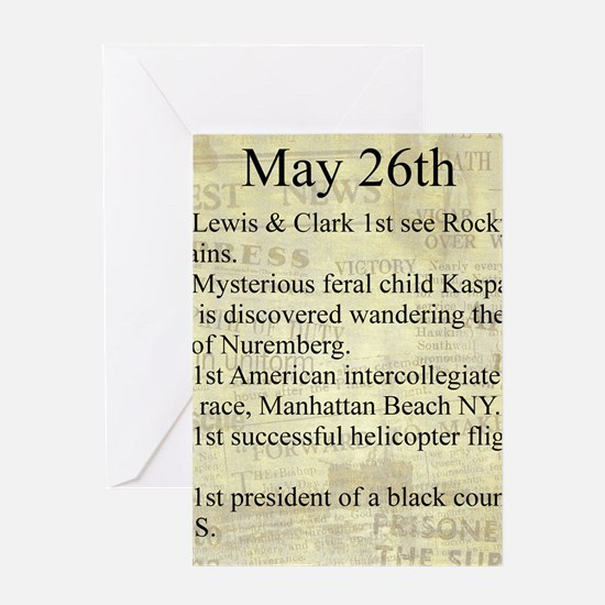 May 26th Greeting Cards