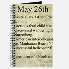 May 26th Journal