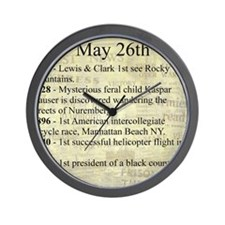 May 26th Wall Clock