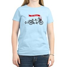 Just married, wedding tandem bicycle T-Shirt